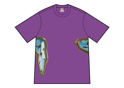 Supreme The Persistence Of Memory Tee Purpleの写真