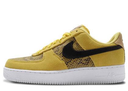 Nike Air Force 1 07 Premium Snakskin Chrom Yellow/Black-Club Goldの写真