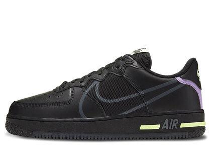 Nike Air Force 1 React Black/Anthrasite-Violet Starの写真