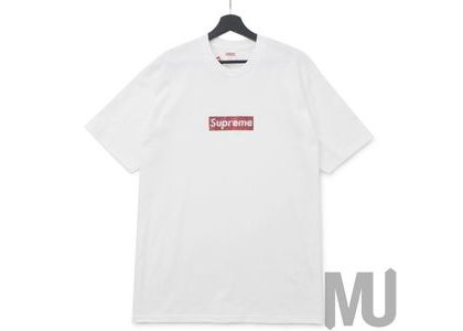 Supreme Swarovski Box Logo Tee Whiteの写真