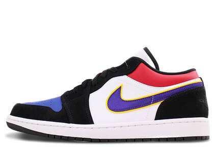 Nike Air Jordan 1 Low Black/Cout Purple-University Gold-Bright Crimson-Game Royal-Whiteの写真