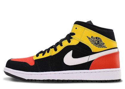 Nike Air Jordan 1 Mid SE Black/Amarillo-White-Team Orangeの写真