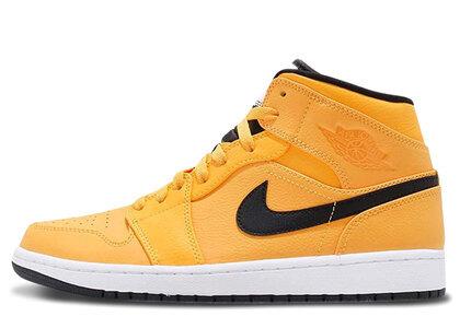 Nike Air Jordan 1 Mid University Gold/Black-Whiteの写真