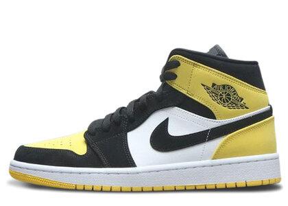 Nike Air Jordan 1 Mid Yellow Toe Blackの写真