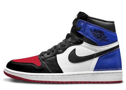 Nike Air Jordan 1 Retoro High OG Top 3 Black/Varsity Red-Varsity Royalの写真