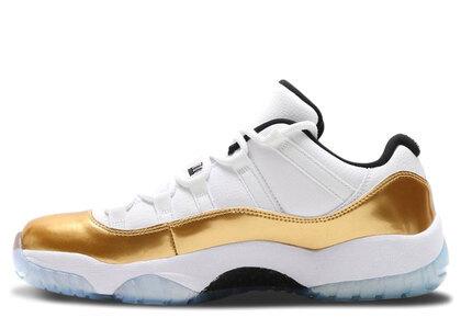 Nike Air Jordan 11 Low Retoro White/Metallic Gold Coin-Blackの写真