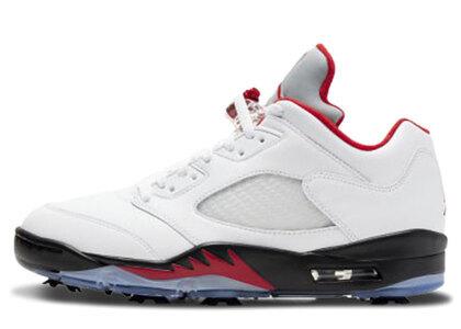 Nike Air Jordan 5 Golf Fire Redの写真