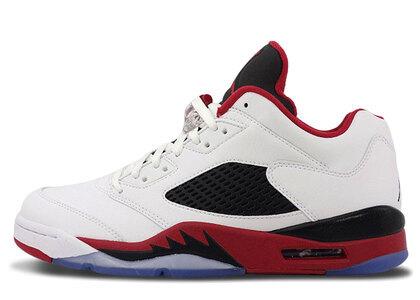 Nike Air Jordan 5 Retoro Low White/Fire Red-Blackの写真