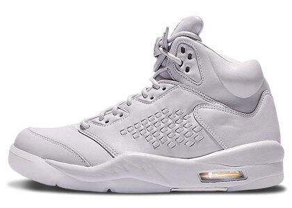 Nike Air Jordan 5 Retoro Premium Pure Platinum/White-Whiteの写真