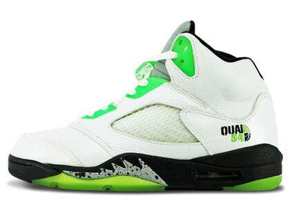 Nike Air Jordan 5 Retoro Q54 White/RDNT Green-Black-Metalic Silverの写真