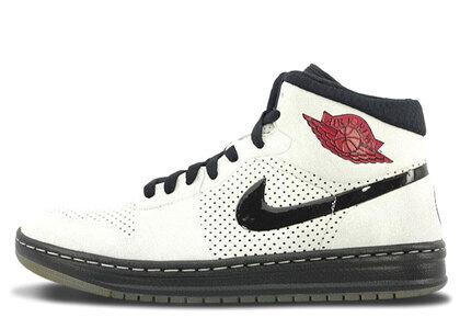 Nike Air Jordan Alpha 1 White/Black-Varsity Redの写真