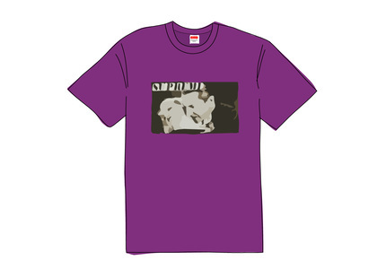 Supreme Bela Lugosi Tee Purpleの写真