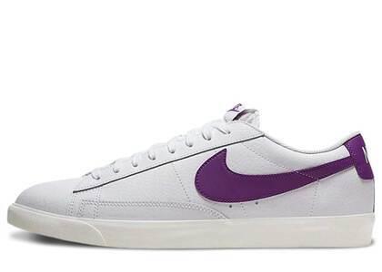 Nike Blazer Low Leather White Purpleの写真