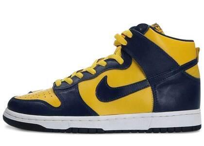 Nike Dunk High LE MidNight Navy/Varsity Maizeの写真