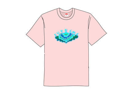 Supreme Cloud Tee Light Pinkの写真