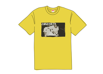 Supreme Bela Lugosi Tee Acid Yellowの写真