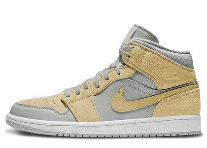 Nike Air Jordan 1 Mid Mixed Textures Yellowの写真