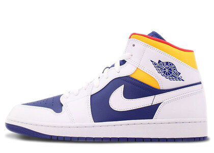 Nike Air Jordan 1 Mid Royal Blue Laser Orangeの写真