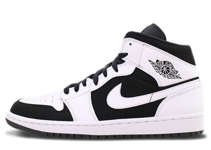 Nike Air Jordan 1 Mid White Blackの写真