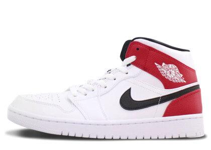Nike Air Jordan 1 Mid White Black Gym Redの写真