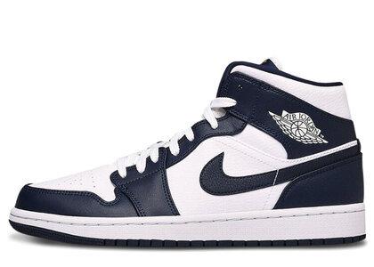 Nike Air Jordan 1 Mid White Metallic Gold Obsidianの写真