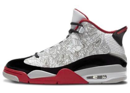 Nike Air Jordan Dub Zero OG White/Black-Redの写真