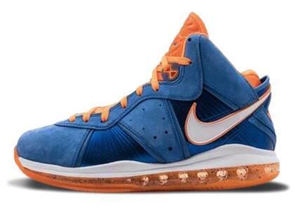 Nike Lebron 8 HWC Hardwood Classic Varsity Royal/White-Oranje Blazeの写真