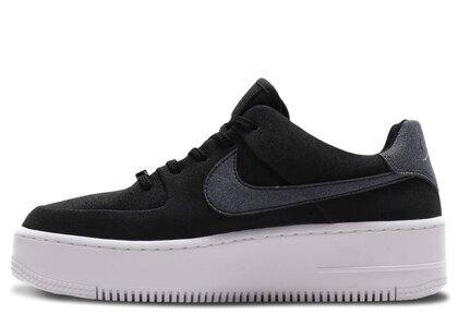 Nike AF1 Sage Low Black/Black-White-Black Womensの写真