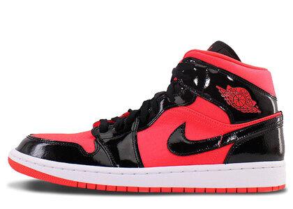 Nike Air Jordan 1 Mid Bright Crimson Womensの写真
