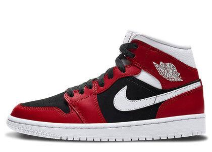 Nike Air Jordan 1 Mid Gym Red/White-Black Womensの写真