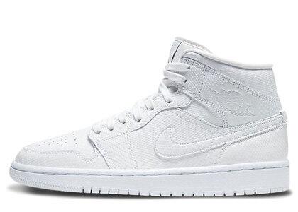 Nike Air Jordan 1 Mid White Womensの写真