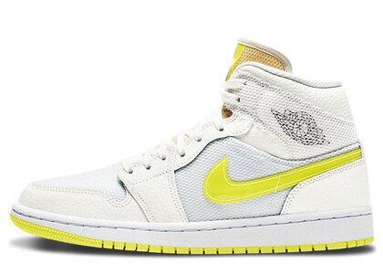 Nike Air Jordan 1 Mid SE Voltage Yellow Womensの写真