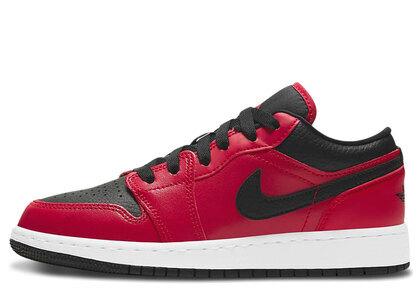 Nike Air Jordan 1 Low Gym Red Black Pebbled (GS)の写真