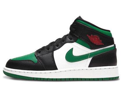 Nike Air Jordan 1 Mid Green Toe (GS)の写真