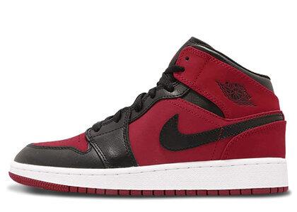 Nike Air Jordan 1 Mid Gym Red Black (GS)の写真