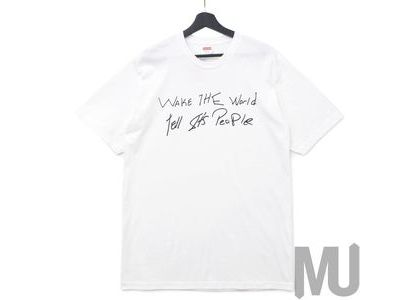 Supreme Buju Banton Wake The World Tee Whiteの写真
