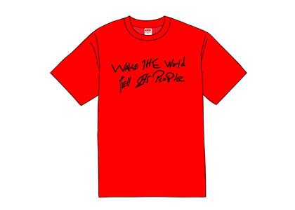 Supreme Buju Banton Wake The World Tee Redの写真