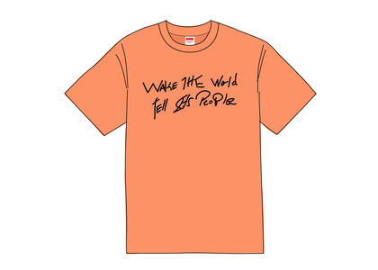 Supreme Buju Banton Wake The World Tee Neon Orangeの写真