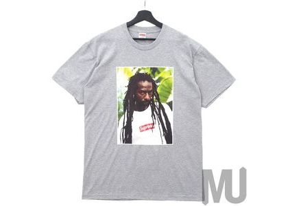 Supreme Buju Banton Tee Heather Greyの写真