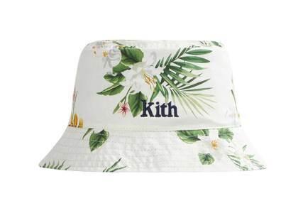 Kith Hawaiian Print Reversible Bucket Hat Whiteの写真