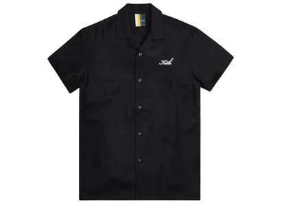Kith Thompson Camp Collar Shirt Blackの写真