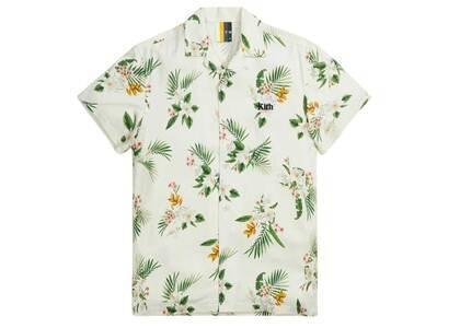 Kith Thompson Camp Collar Shirt Whiteの写真