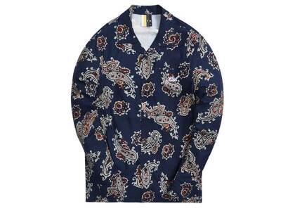 Kith L/S Thompson Printed Camp Collar Shirt Nocturnalの写真