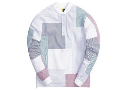 Kith Patchwork Pearson Henley Pullover Concreteの写真