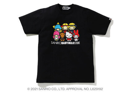 Bape Hello Kitty × Baby Milo Tee #4 Black (SS21)の写真