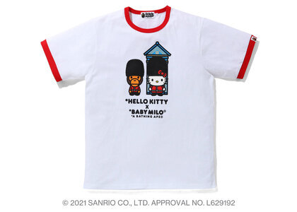 Bape Hello Kitty × Baby Milo London Trim Tee Red (SS21)の写真