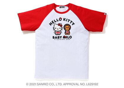Bape Hello Kitty × Baby Milo London Raglan Tee Red (SS21)の写真
