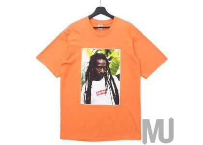 Supreme Buju Banton Tee Neon Orangeの写真