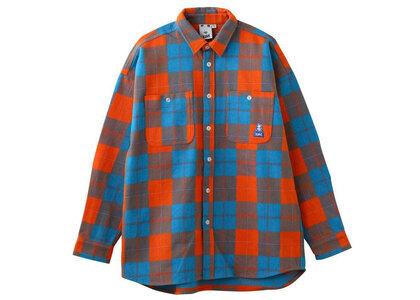 X-Girl Face Heavyweight Flannel Shirt X-girl Orangeの写真
