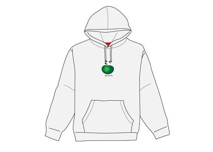Supreme Apple Hooded Sweatshirt Ash Greyの写真